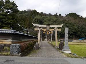久米田神社 遠景