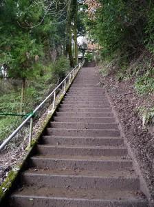 久米田神社 階段