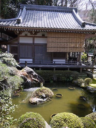 岩間寺 芭蕉池